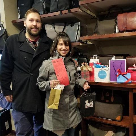 Scavenger Hunt winners from the 2018 Holiday Stroll in Wellesley Square
