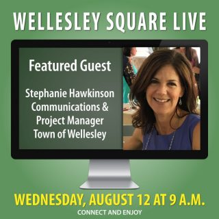 Meet Stephanie Hawkinson during Wellesley Square Live this Wednesday morning. As the Communications and Project Manager for Wellesley, she'll provide valuable insight, and she'll answer your questions. Join us this Wednesday, August 12 at 9 a.m. It's a great opportunity to connect with your community. Learn more and register to attend. It's free!... https://shopwellesleysquare.com/wellesley-square-live/ #wellesleysquarelive #wellesleysquare #wellesley #videomeeting #virtualmeeting #community #wellesleysquaremember