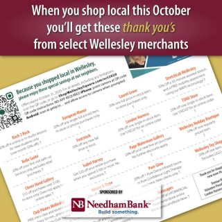 "When you #shoplocal this October you'll get these ""thank you's"" from select Wellesley merchants. Make a purchase in-store and they'll hand you a page of coupons with the special offers. See them here: https://shopwellesleysquare.com/oct2020/ #wellesley #wellesleysquare #LindenSquareWellesley #wellesleyma #wellesleysquaremember"