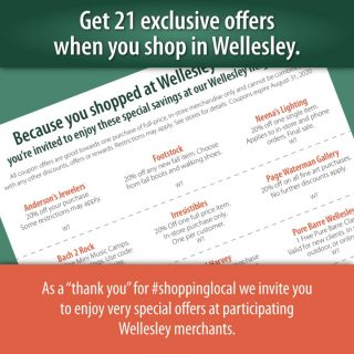 Only now through the end of August, shop any one of these great stores and get 21