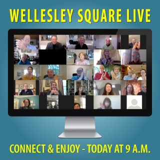 Enjoy a community hour during Wellesley Square Live this morning at 9 a.m. Learn more and register to attend. It's free! Copy-and-Paste this... https://shopwellesleysquare.com/wellesley-square-live/ #wellesleysquarelive #wellesleysquare #wellesley #videomeeting #virtualmeeting #community #wellesleysquaremember
