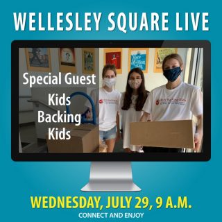 Rick Cram will interview Grace Rodrigue and her dad, Jim Rodrigue, during Wellesley Square Live this Wednesday morning. They're founders of Kids Backing Kids, a new Wellesley non-profit on a mission to help kids in need. Meet them, ask your questions and applaud their might cause. Join us this Wednesday, July 29 at 9 a.m. Learn more and register to attend. It's free!... https://shopwellesleysquare.com/wellesley-square-live/ #wellesleysquarelive #wellesleysquare #wellesley #videomeeting #virtualmeeting #community #wellesleysquaremember #grace.rodrigue