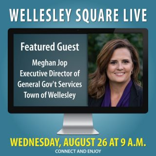 Meet Meghan Jop during Wellesley Square Live this Wednesday morning at 9 a.m. As Executive Director of General Government Services for the Town of Wellesley, she'll provide valuable insight and answer your questions. Learn more and register to attend. It's free!... Copy-and-Paste... https://shopwellesleysquare.com/wellesley-square-live/ #wellesleysquarelive #wellesleysquare #wellesley #videomeeting #virtualmeeting #community #wellesleysquaremember