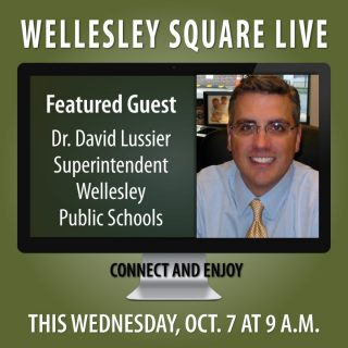 Meet Dr. David Lussier during Wellesley Square Live this Wednesday morning (10/7) at 9 a.m. As Superintendent of the Wellesley Public Schools, he'll provide valuable insight and perspective, and answer your questions. Learn more and register to attend. It's free!... Copy-and-Paste... https://shopwellesleysquare.com/wellesley-square-live/ #wellesleysquarelive #wellesleysquare #wellesley #videomeeting #virtualmeeting #community #wellesleysquaremember ##ellesleypublicschools