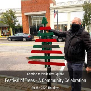 We...your Wellesley community merchants...needed an idea to replace the Holiday Stroll. And one has been hatched; a novel concept born out of creativity and resourcefulness. Here it is: Festival of Trees - A Community Celebration. Shown: Demian Wendrow, owner of London Harness and TUMI Wellesley, illustrates what to expect in the week ahead. Read all about it here: https://shopwellesleysquare.com/festival-of-trees-2020/ #wellesley #wellesley #wellesleysquaremember #festivaloftreeswellesley #festivaloftreeswellesleysquare #2020holidays #shoplocal #shopwellesley #holidaytree #londonharness #tumi.wellesley